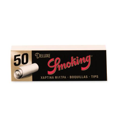 Фильтры для самокруток SMOKING Д/САМОКРУТОК Tips Deluxe Бумажные пач/50