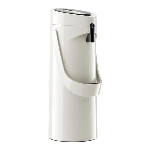 Термос Emsa Ponza Jugs, стеклянная колба с пневмонасосом (1,9 литра), белый