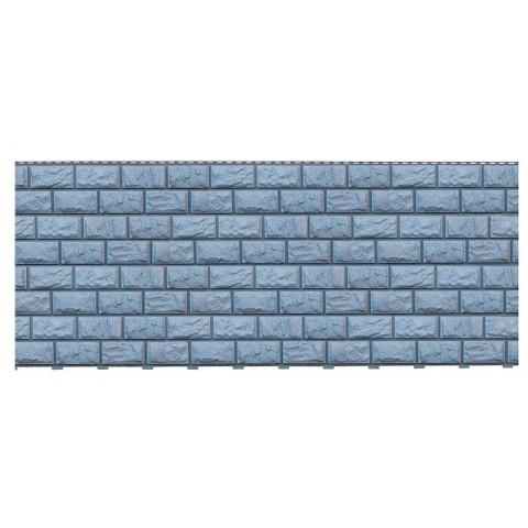 Фасадные панели (Цокольный Сайдинг) Доломит Альпийский Прокрашенный Серо-голубой
