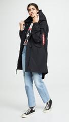 Куртка Alpha Industries Shell Fishtail Parka W Black (Черная)