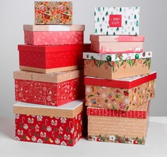 Набор коробок 10 в 1 «Уютный», 12 × 7 × 4 ‒ 32.5 × 20 × 12.5 см, 1 набор.