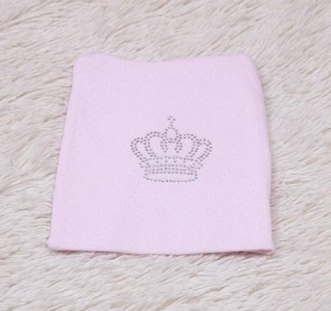 Детская шапочка-колпачок Корона (розовая)