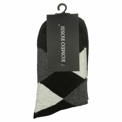 Мужские носки черные ROMEO ROSSI с шерстью 8046-2