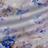 Шелковый атлас в акварельные цветы на жемчужно-сером