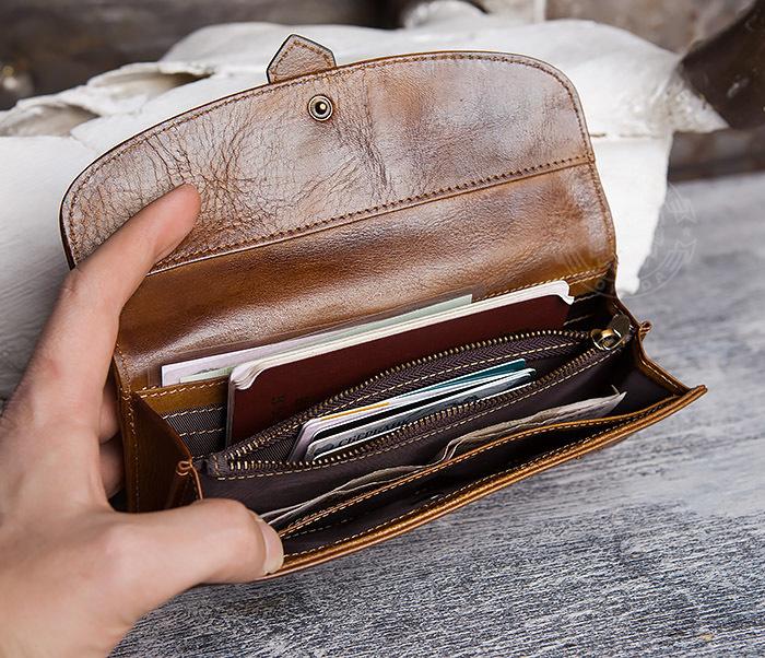 WL296-2 Мужской кошелек клатч из натуральной кожи фото 09