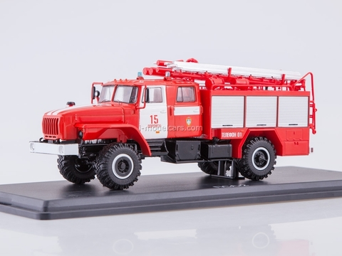 Ural-43206 PSA 2,0-40-2 Fire Dep. №15 Voronezh 1:43 Start Scale Models (SSM)