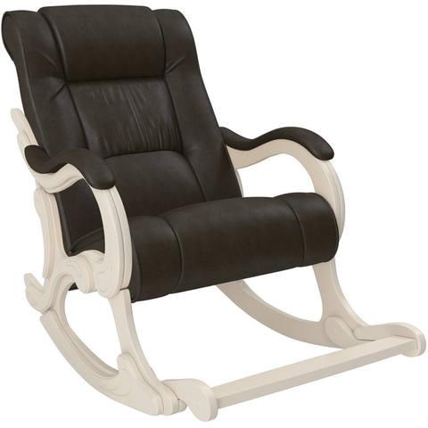 Кресло-качалка модель 77 Лидер с подножкой экокожа