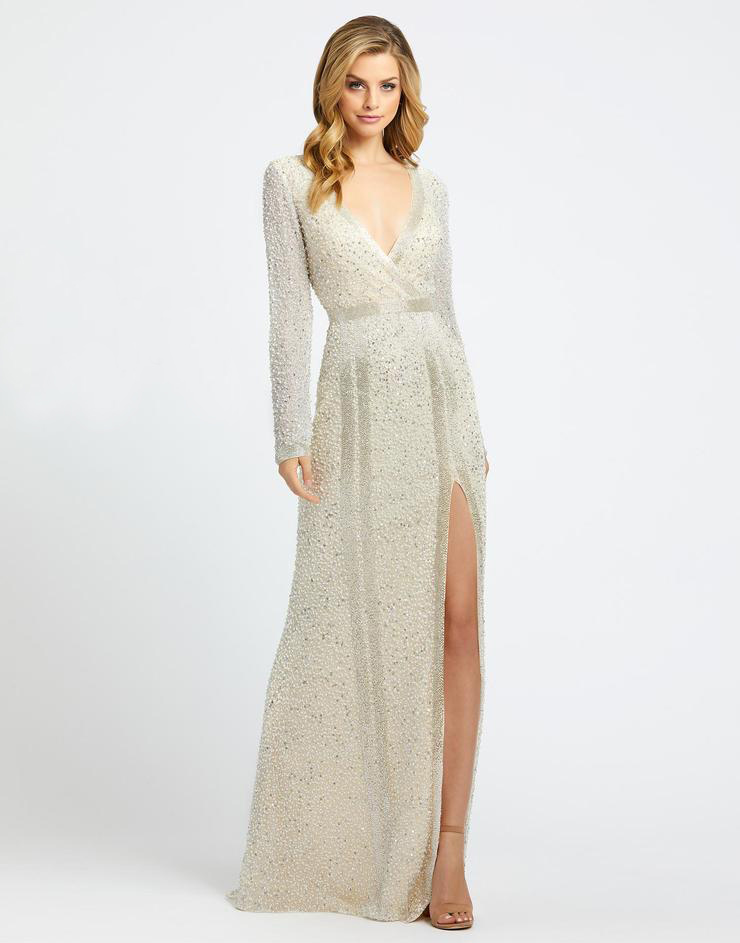 Длинное платье с рукавом в цвете ivory Софи
