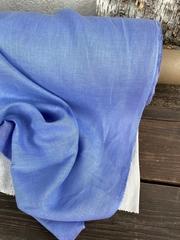Лен костюмный 100%, Голубая лаванда