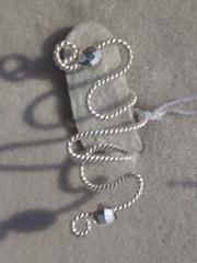 Цевика (серьги-каффы из серебра)