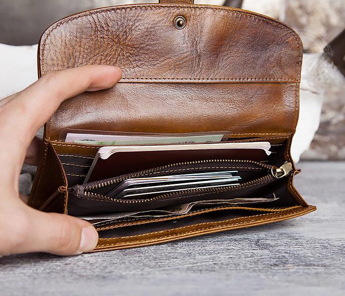 WL296-2 Мужской кошелек клатч из натуральной кожи фото 10