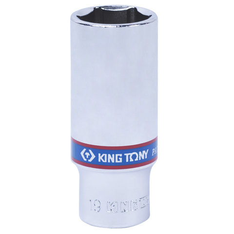 "Головка торцевая глубокая шестигранная 3/8"", 19 мм KING TONY 323519M"