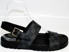 Мужские шлепки Louis Vuitton 1008 01Blak.