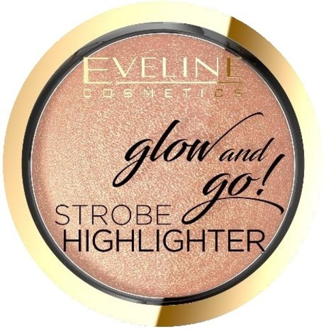 EVELINE GLOW AND GO Хайлайтер запеченный №02-GENTLE GOLD, 8,5г (*3*24)