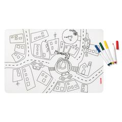 Набор из коврика-раскраски и 4 маркеров Guzzini Bimbi