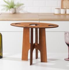 Столик-поднос для вина и двух бокалов, фото 3