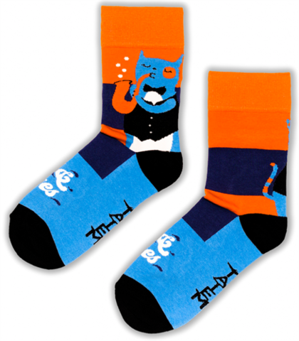 Tatem Socks CAT & BLUES