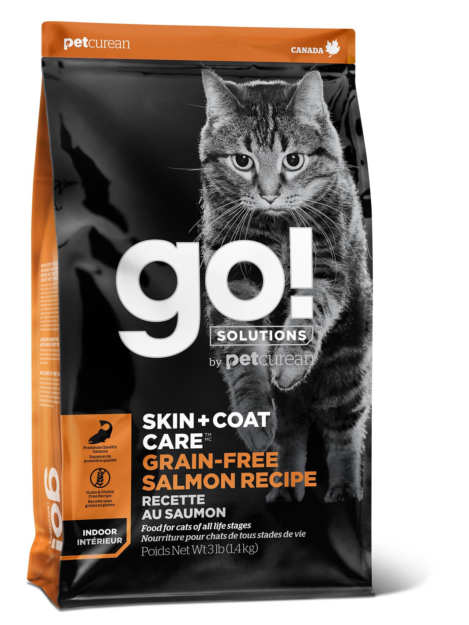 ккупить гоу GO! SKIN + COAT Grain Free Salmon Recipe CF сухой корм для котят и кошек с лососем