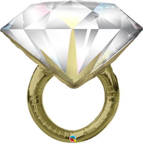 Фигура фольга Кольцо с бриллиантом