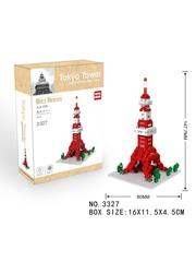 Конструктор Wisehawk & LNO Токийская башня 281 деталб NO. 3327 Tokyo Tower Gift Series