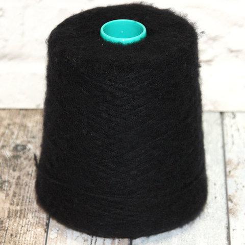 Вспушенный кашемир на шелке BIAGIOLI MODESTO / AURA SOFT 980 черный