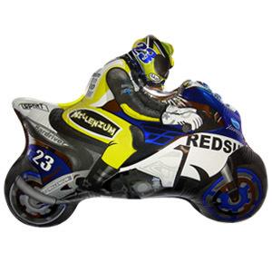 Мини Фигура Мотоциклист голубой 23 X 30см