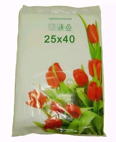 Пакет фасовочный, ПНД 25x40 (12) в пластах Тюльпаны фото (арт 12050)