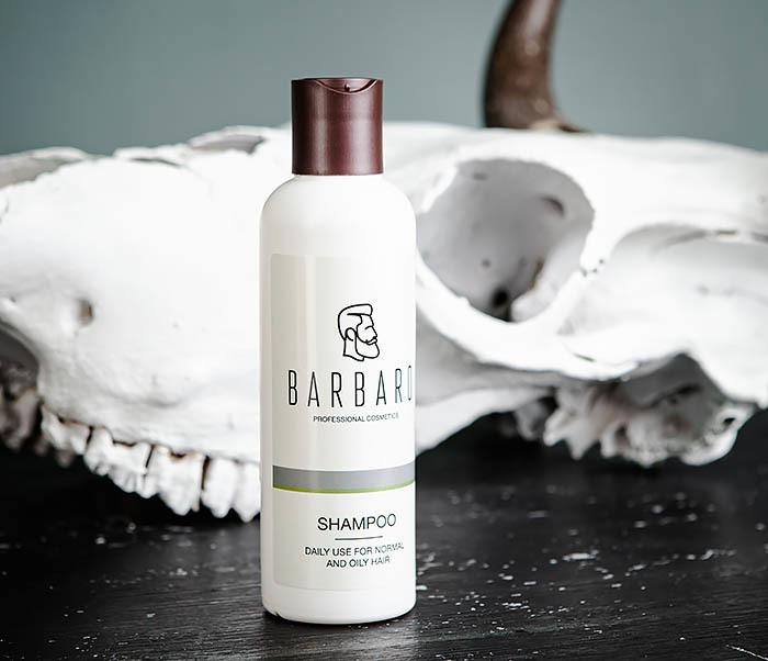 RAZ1016 Мужской шампунь для нормальных и жирных волос Barbaro (220 мл) фото 02