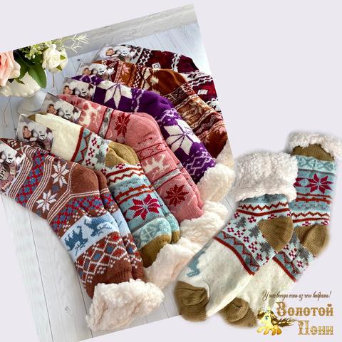 Носки женские шерсть на меху (36-41) 201107-SL8011
