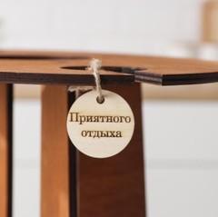 Столик-поднос для вина и двух бокалов, фото 5