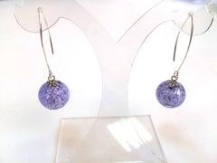 Серьги Perla Grazia светло-голубые (Alexandrite)