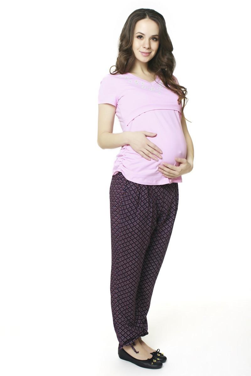 Футболка для беременных 07549 розовый