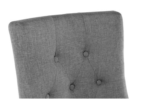 Стул деревянный кухонный, обеденный, для гостиной Elegance dark walnut / fabric grey 52*52*96 Dark walnut /Серый