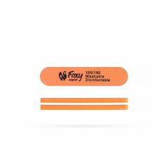 Баф короткий овальный, цвет оранжевый, 100/180