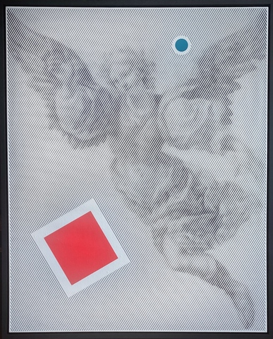Angel with a red square