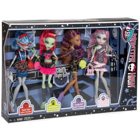 Набор из 4 кукол Ночь монстров
