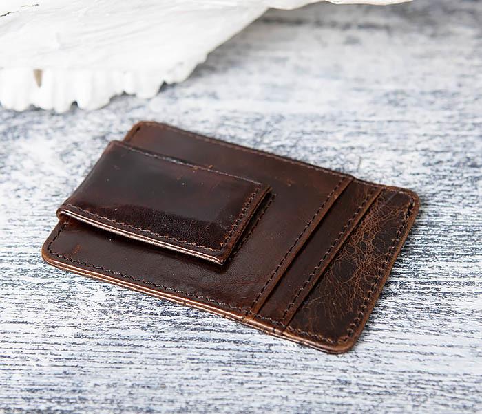 WL306-2 Кожаный зажим для денег с магнитом