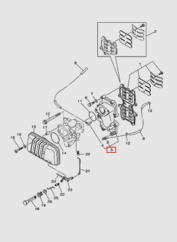 Коллектор  для лодочного мотора T40 Sea-PRO (4-3)