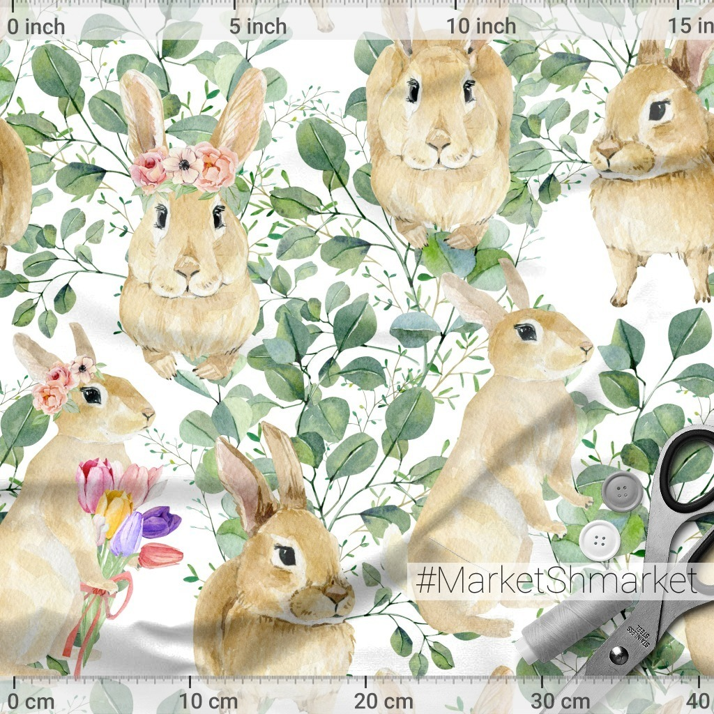 Кролики в эвкалиптовых веточках