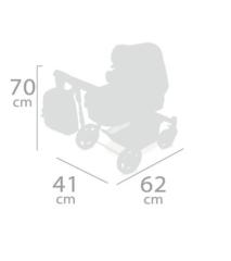 DeCuevas Коляска-трансформер для кукол 3 в 1 серии ТОП-Коллекшн 70см (80537)