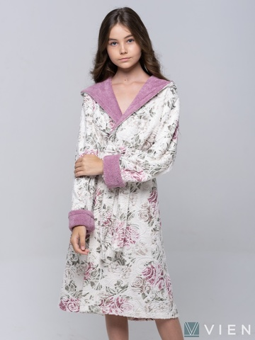 LITTLE MADONNA (light rose) детский халат для девочки  Five Wien Турция