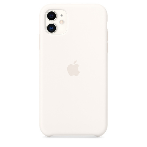 Чехол IP11 Silicone Case Soft White