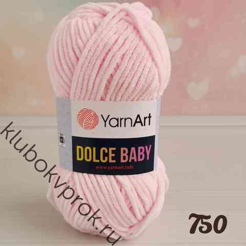YARNART DOLCE BABY 750, Нежный розовый
