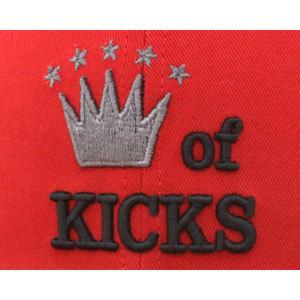 Бейсболка New Era king красная фото логотипа спереди