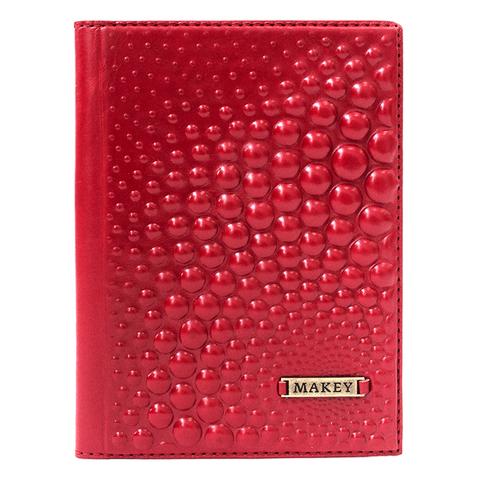Обложка на паспорт | Bubbles | Красный
