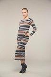 Платье для беременных 09104 карамельные полосы