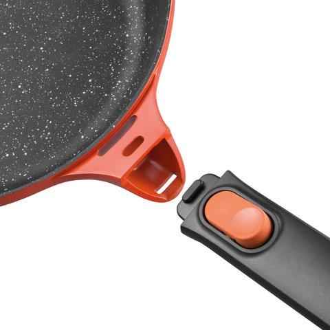 Сковорода гриль 28см 3,2л Gem red