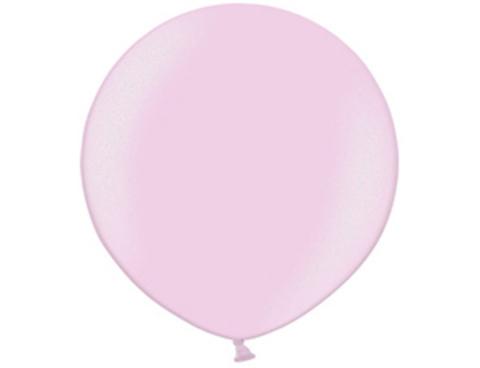Большой воздушный шар металлик розовый