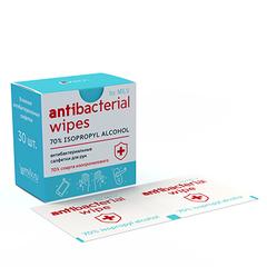 Milv, Влажные антибактериальные салфетки, 30 шт