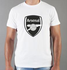 Футболка с принтом FC Arsenal (ФК Арсенал) белая 008